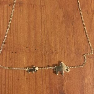 Mom and baby elephant necklace!